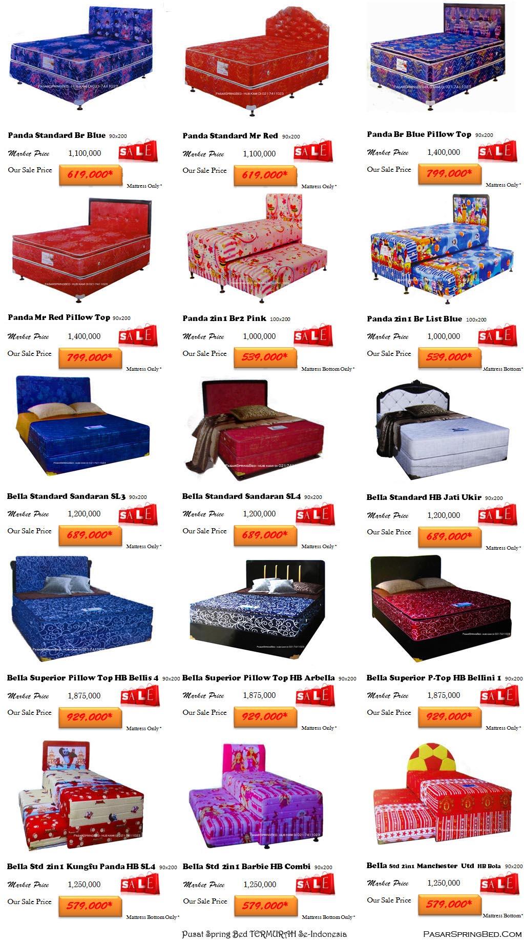 harga tempat tidur panda