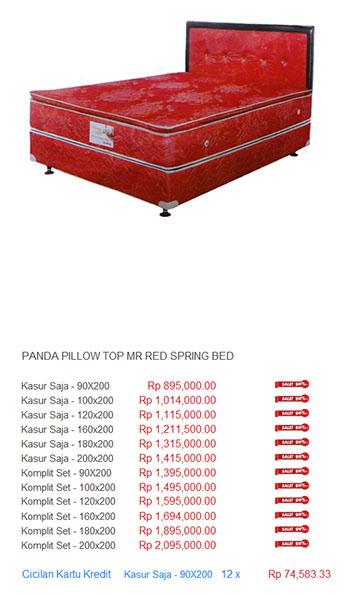 harga panda spring bed