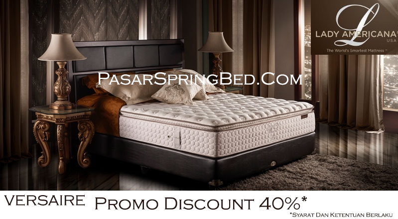 Harga Lady Americana Spring Bed - Promo watermarked