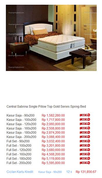 Harga Central Spring Bed Daftar Central20 HARGA SPRING BED