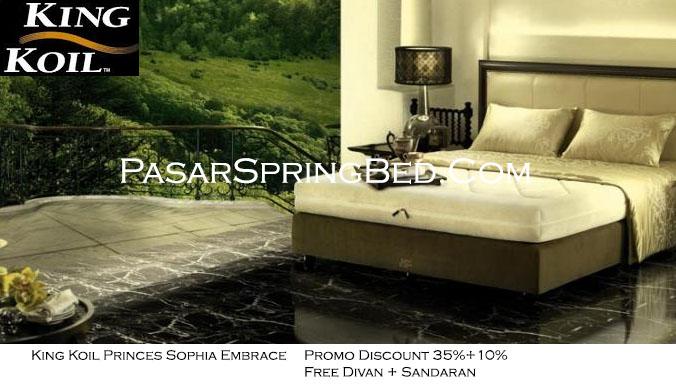 harga king koil spring bed - promo princes sophia w