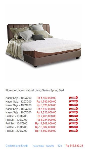 harga florence spring bed15