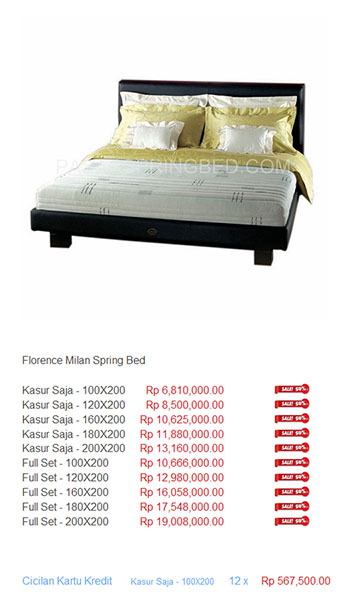 harga florence spring bed17