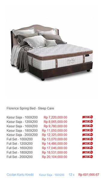 harga florence spring bed18