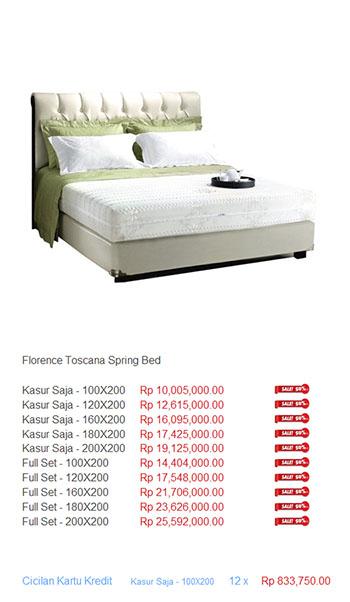 harga florence spring bed21