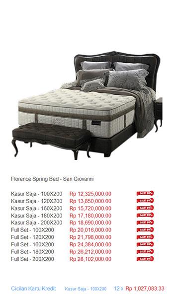 harga florence spring bed22
