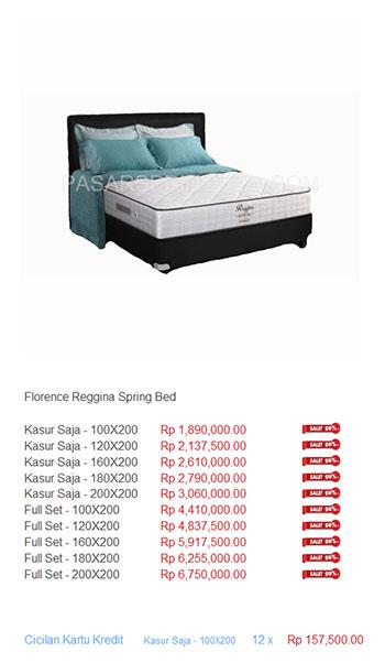 harga florence spring bed3