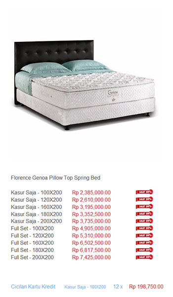 harga florence spring bed5