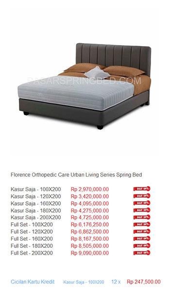 Harga Florence Spring Bed TERMURAH Di Indonesia Daftar