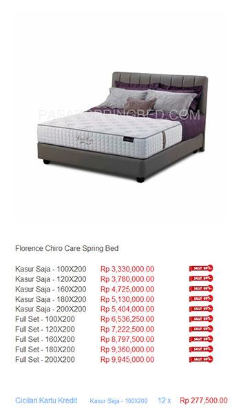harga florence spring bed8