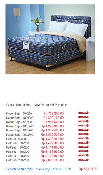 harga guhdo spring bed2