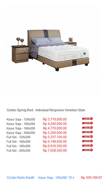 harga guhdo spring bed