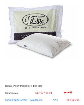 harga spring bed bantal