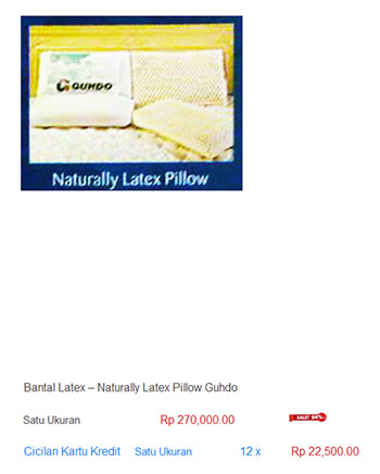 harga spring bed bantal latex lateks memory foam