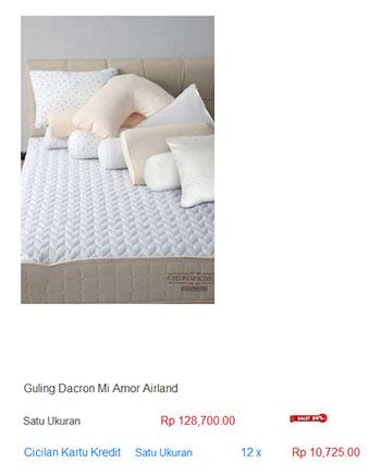 harga spring bed guling