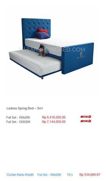 harga la dova spring bed