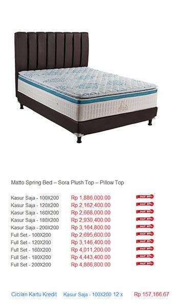 harga matto spring bed
