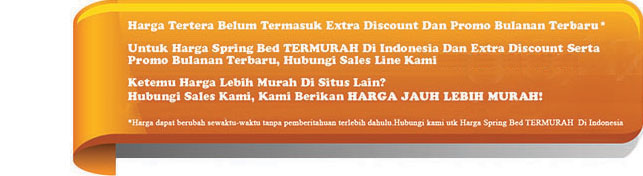harga the luxe spring bed