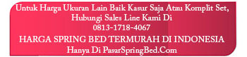 harga sleep & dream spring bed