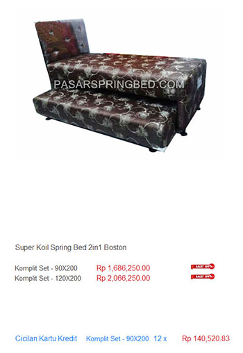 harga super koil spring bed