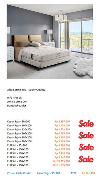harga spring bed