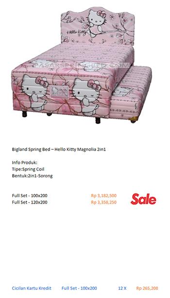 harga bigland spring bed kasur