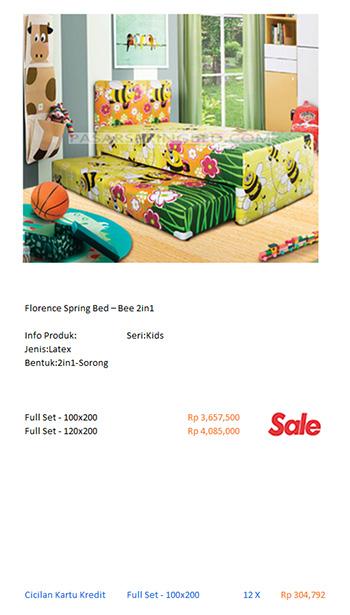 harga florence spring bed kasur|