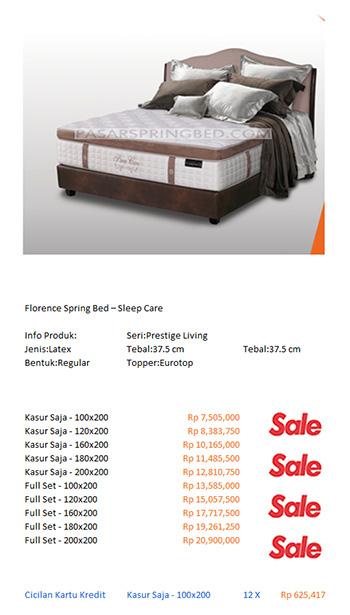 harga florence spring bed