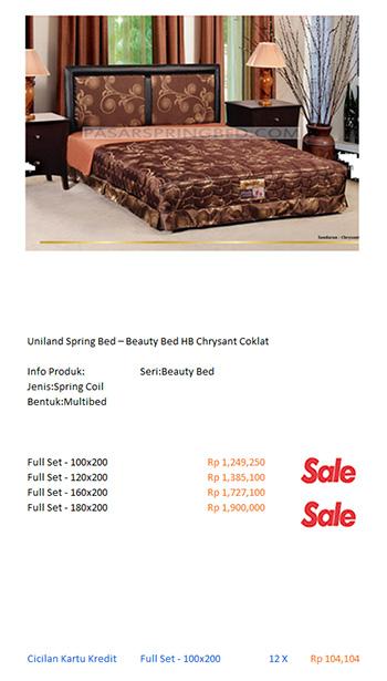harga uniland spring bed kasur|
